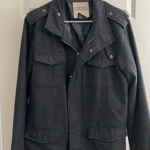 Ezekiel Men's Zippered Black Jacket 4 Pockets